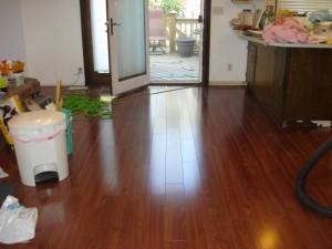 Floors - Looking at door to deck.